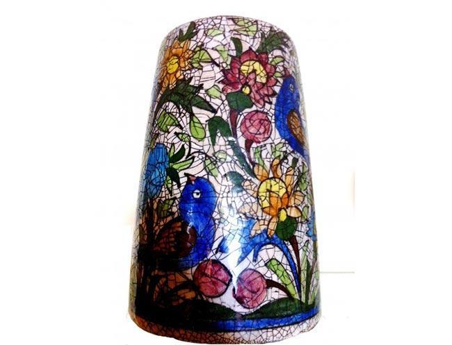 אגרטל קרמיקה צבעוני - שטיחי אלי ששון