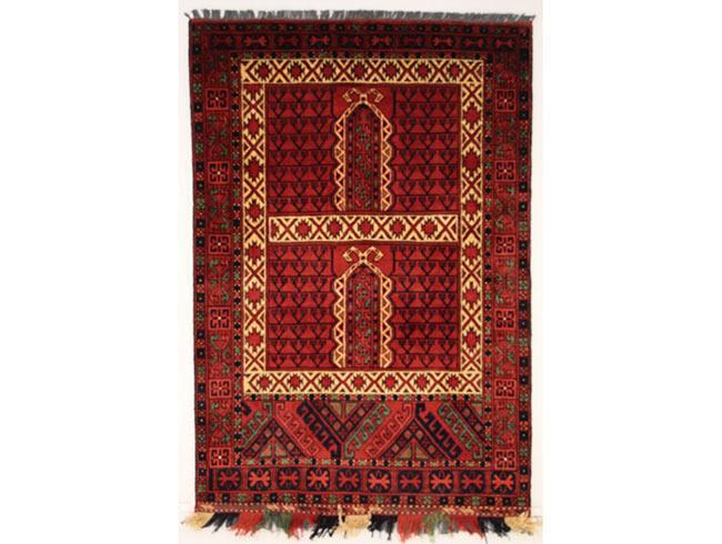 שטיח אפגני אדום - שטיחי אלי ששון