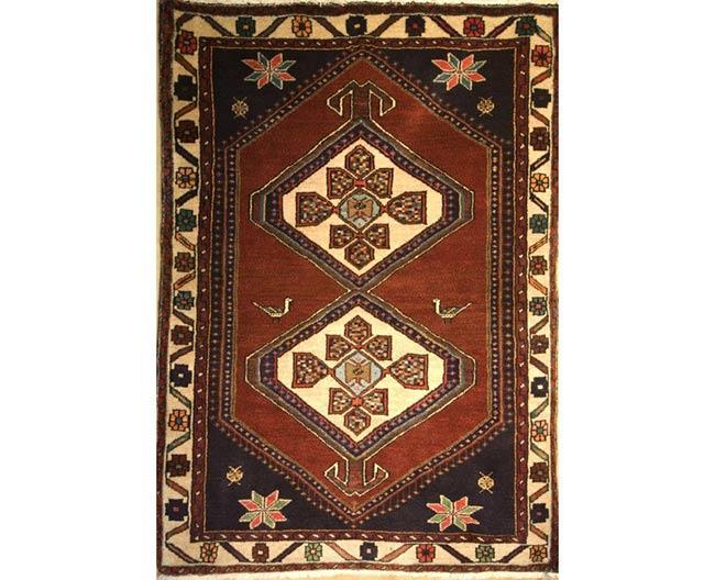 שטיח כחול בורדו - שטיחי אלי ששון