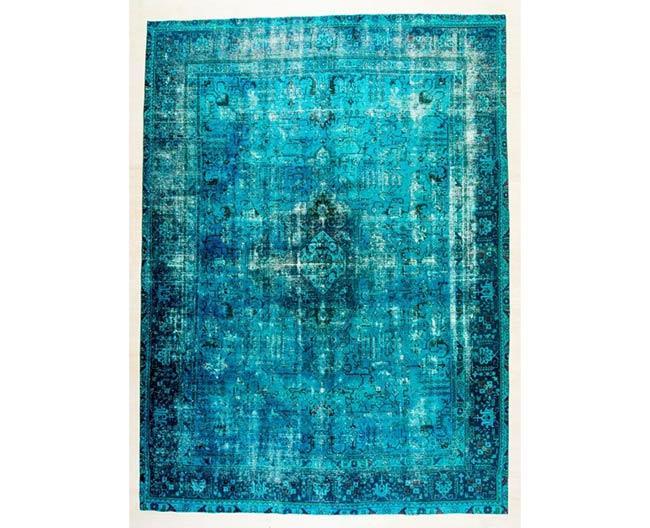 שטיח וינטג' טורקיז - שטיחי אלי ששון