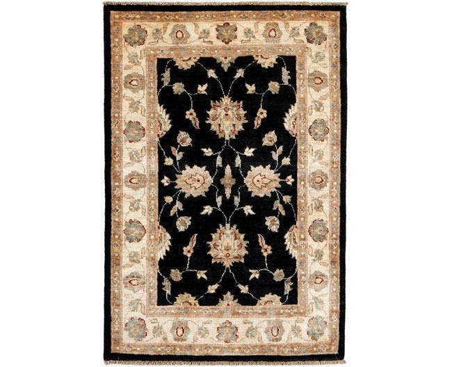 שטיח שחור שמנת - שטיחי אלי ששון