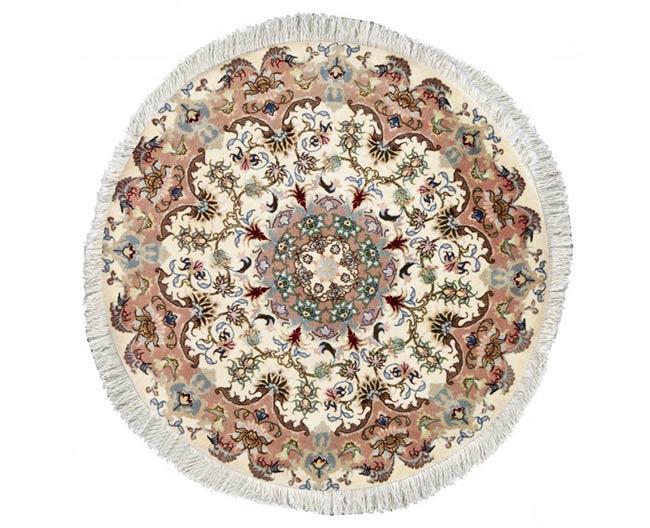 שטיח עגול לבן - שטיחי אלי ששון
