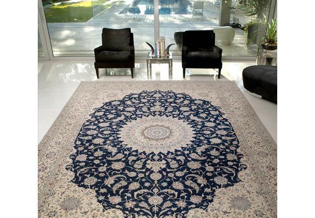 שטיח אפור כחול - שטיחי אלי ששון