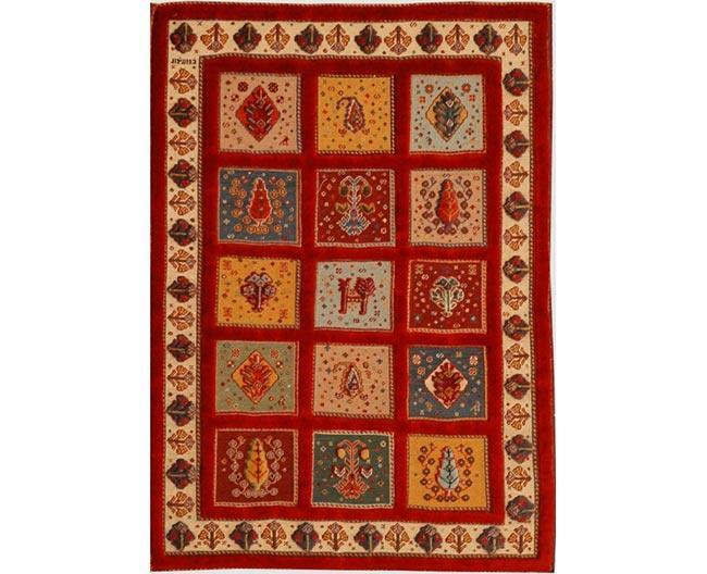 שטיח אדום משבצות - שטיחי אלי ששון