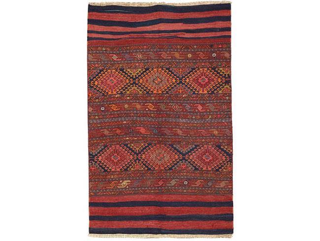 שטיח אדום שחור - שטיחי אלי ששון
