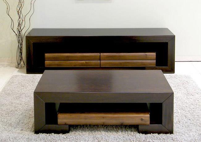 מזנון ושולחן עץ - רגב רהיטים