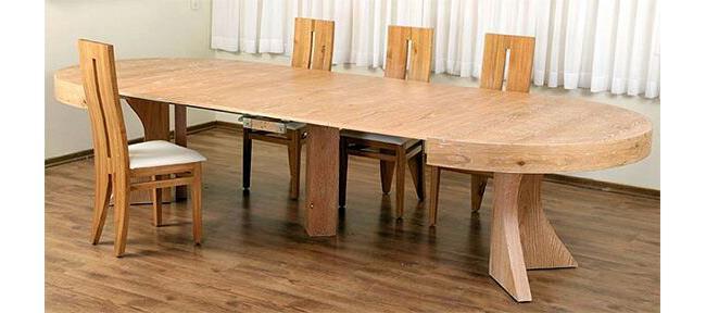 שולחן אוכל נפתח עגול - רגב רהיטים