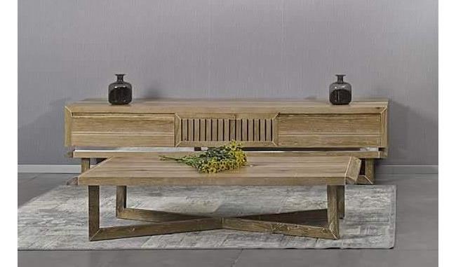 מזנון ושולחן מעץ - רגב רהיטים