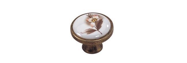 כפתור פורצלן 341 אוקסיד פרח חום - אבנר`ס קולקשיין