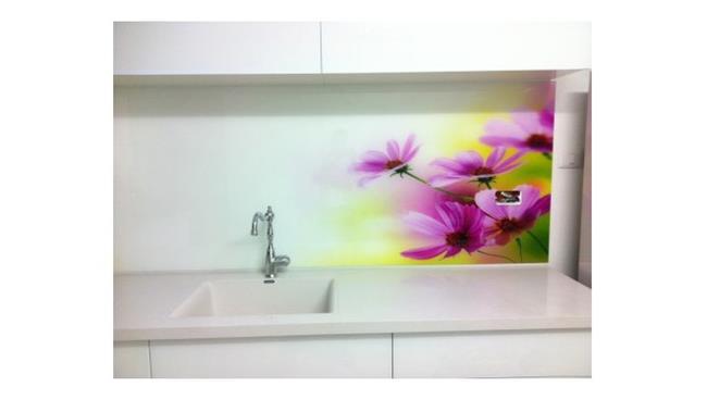 חיפוי זכוכית פרחים סגולים - א.ר. שיווק
