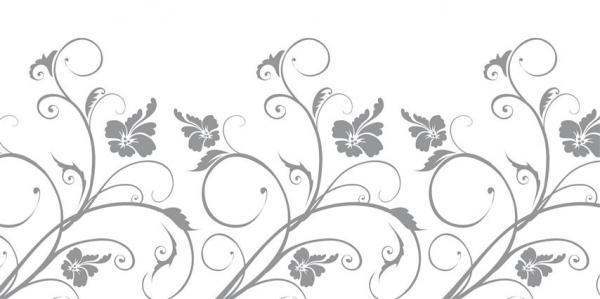 הדפס זכוכית פרחים אפור - א.ר. שיווק