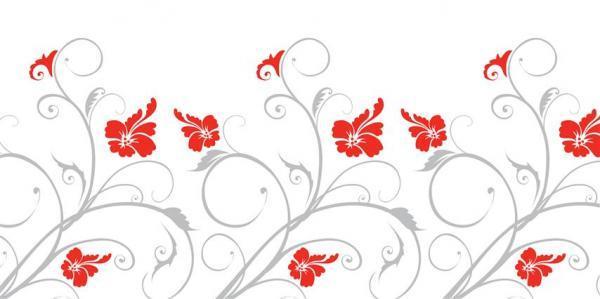 הדפס זכוכית פרחים אדום אפור - א.ר. שיווק