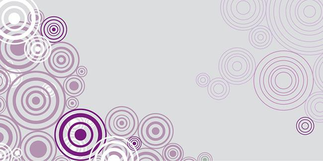 זכוכית מודפסת עיגולים סגולים - א.ר. שיווק