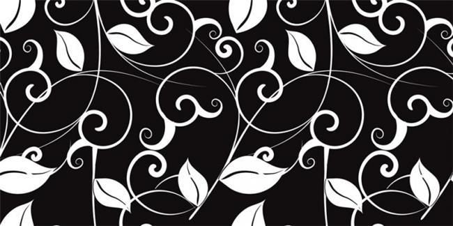 זכוכית מודפסת פריחה שחור לבן - א.ר. שיווק