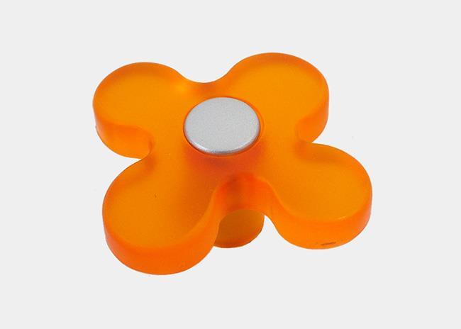 כפתור פרח כתום  - א.ר. שיווק