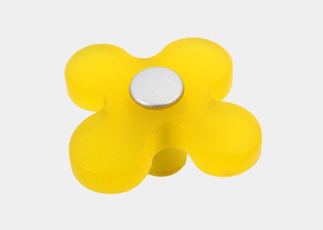 כפתור פרח צהוב - א.ר. שיווק