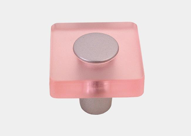 כפתור מרובע ורוד בהיר - א.ר. שיווק