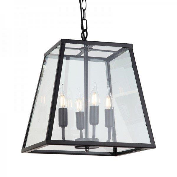 מנורת תלייה זכוכית טרפז - אופק תאורה חוץ ופנים