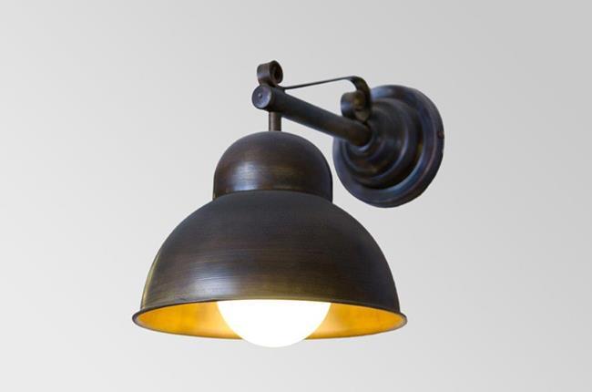 מנורת קיר פעמון פליז - אופק תאורה חוץ ופנים