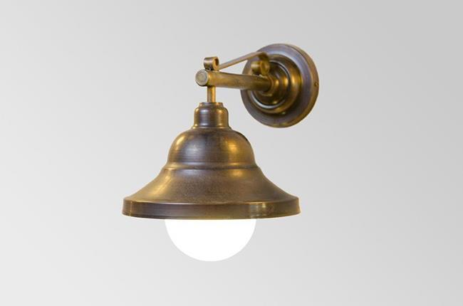 מנורת קיר פעמון פליז קטן - אופק תאורה חוץ ופנים