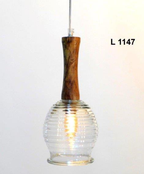 גוף תאורה בשילוב עץ - אופק תאורה חוץ ופנים