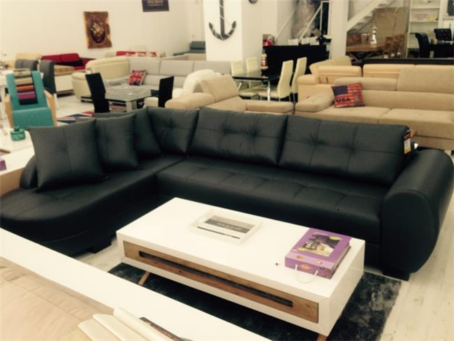 ספה פינתית שחורה - רהיטי חנות המפעל
