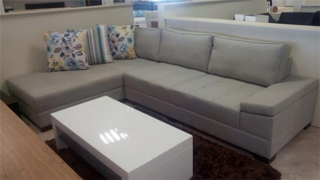 ספה פינתית אפורה - רהיטי חנות המפעל