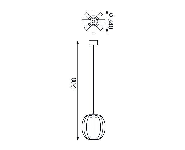 מנורת תלייה דגם פליימי L - טכנולייט