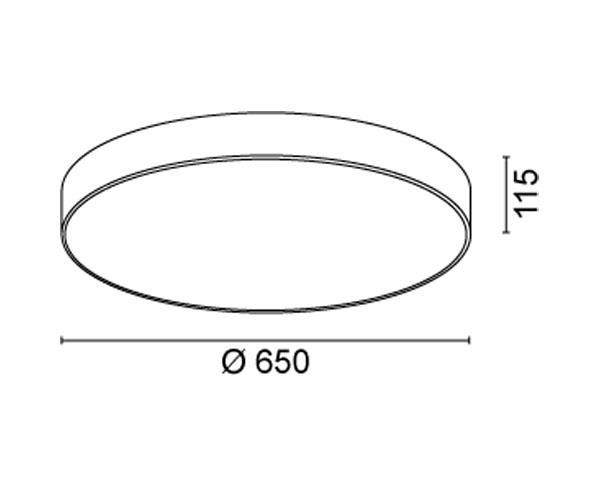 צמוד תקרה דגם קרונה לד 65 - טכנולייט