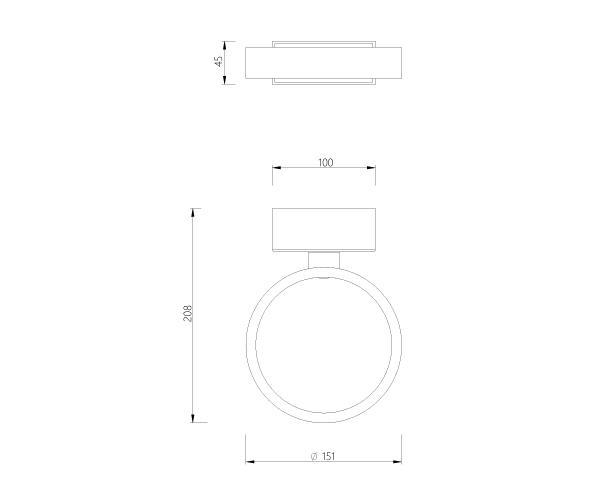 צמוד קיר דגם ADJ רינגו - טכנולייט