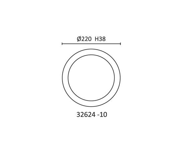 צמוד תקרה פלו Sr 24 - טכנולייט