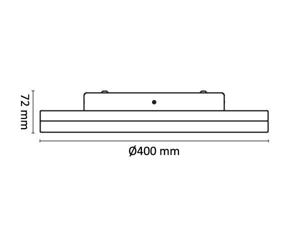 צמוד תקרה זן R40 - טכנולייט