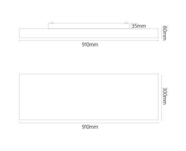 צמוד תקרה דגם אקריליו REQ 90 לד - טכנולייט