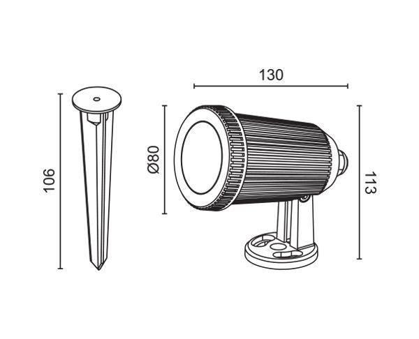 גוף תאורה טיבו 12V - טכנולייט
