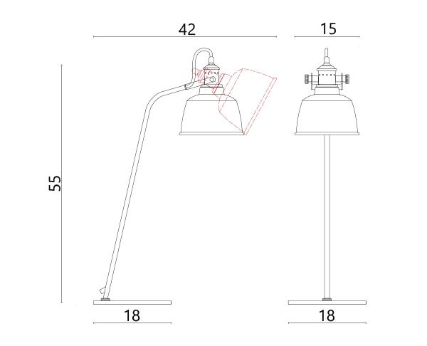 מנורה MUMOON אטל T - טכנולייט