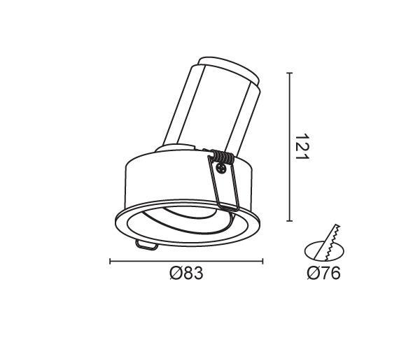 שקוע תקרה דגם ארקוס C1 - טכנולייט