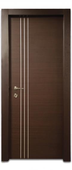 דלת פסי ניקל לאורך - דלתות אלון