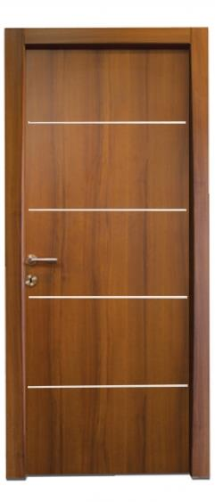 דלת 4 פסי ניקל רוחב - דלתות אלון