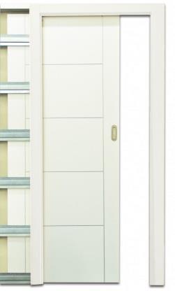 דלת הזזה כיס  - דלתות אלון