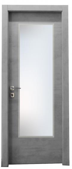 דלת צוהר יפני חלק - דלתות אלון