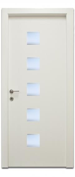 דלת 5 חלונות מרובעים - דלתות אלון