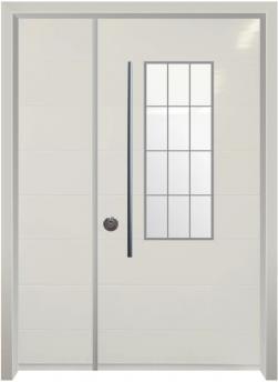 דלת כניסה מודרנית קרם - דלתות אלון