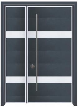 דלת כניסה מודרנית כחול  - דלתות אלון