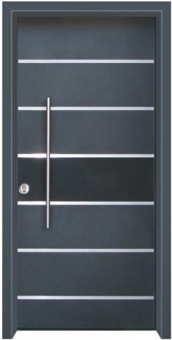 דלת כניסה מודרנית כחול כהה - דלתות אלון