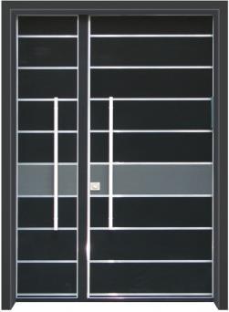 דלת כניסה מודרנית שחור - דלתות אלון