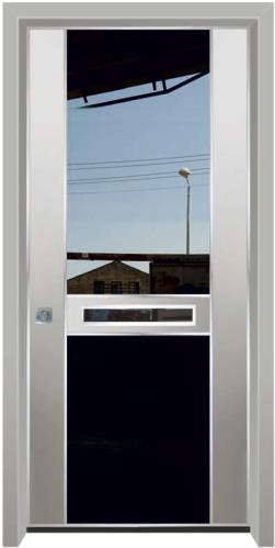 דלת יהלום משולבת זכוכית - דלתות אלון