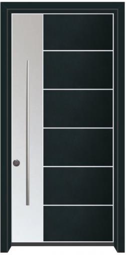דלת כניסה הייטק כחול כהה - דלתות אלון