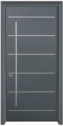 דלת כניסה עדן כחול פסים - דלתות אלון