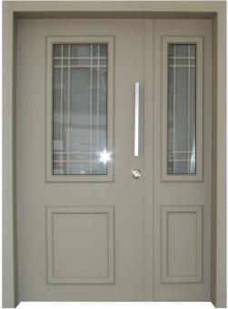 דלת כניסה פנורמי בז - דלתות אלון
