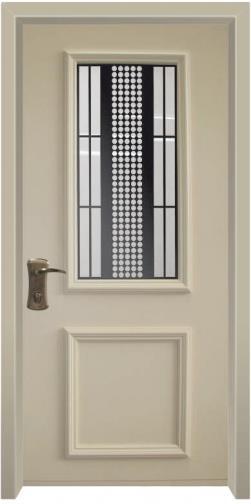 דלת כניסה פנורמי קרם - דלתות אלון